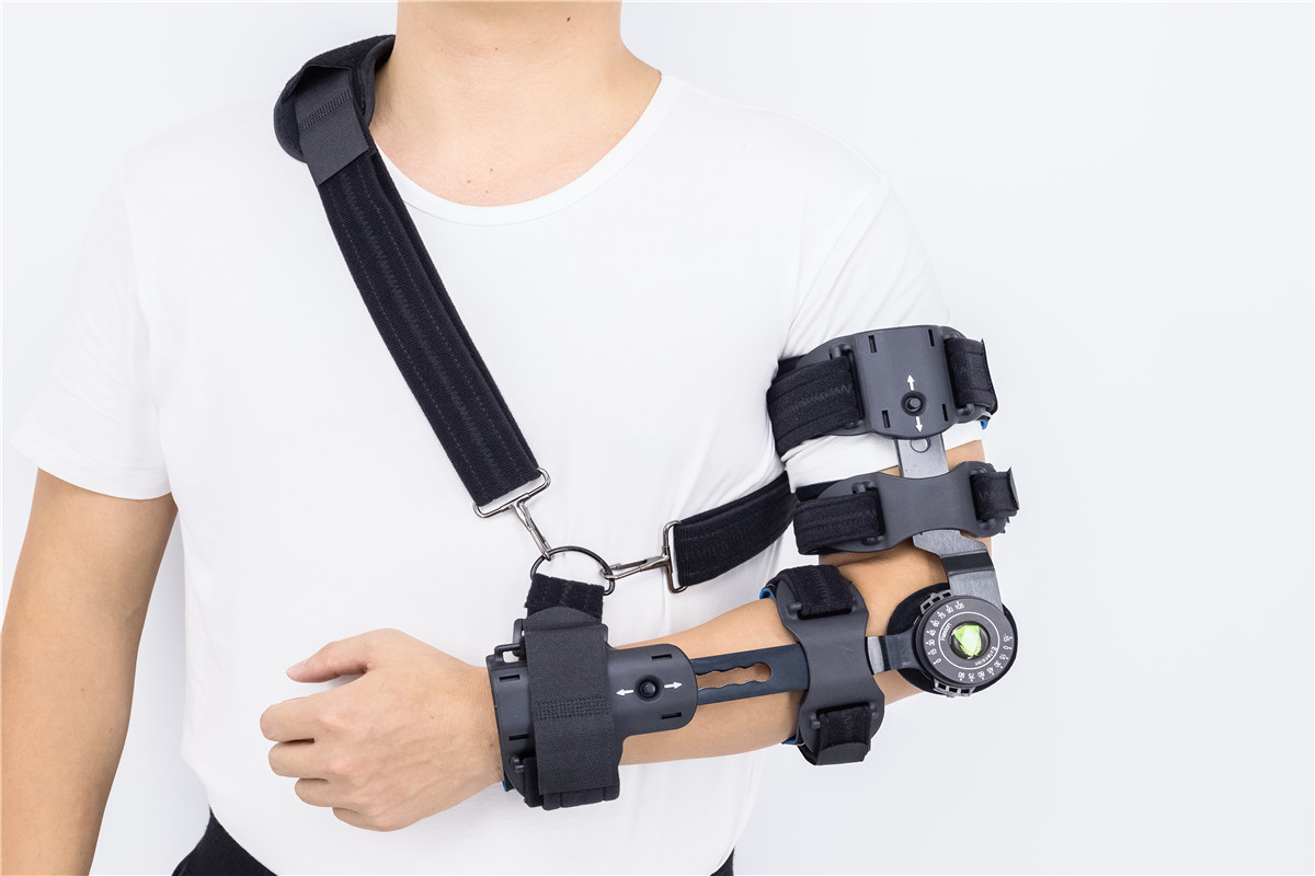 Telescoping ROM  forearm Elbow braces with arm slings and logo customized