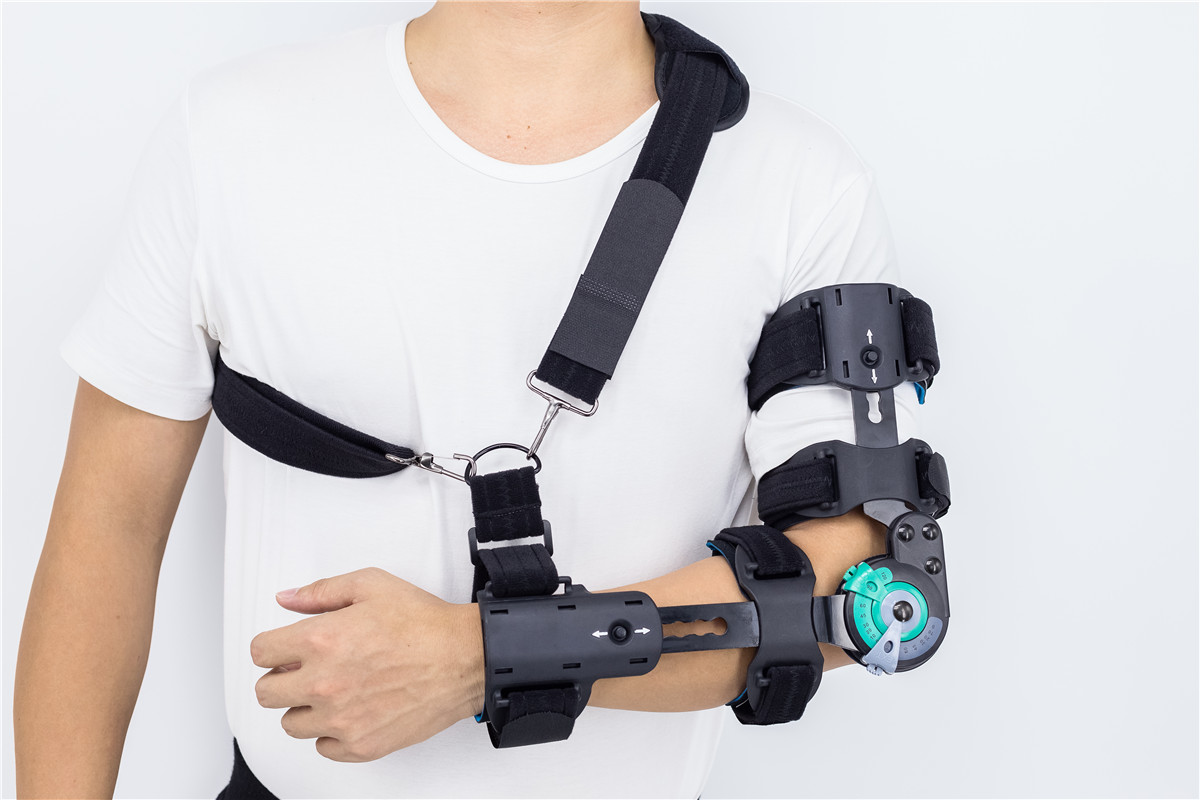 Adjustable ROM hinged Elbow braces with Aluminum Alloy Metal Frame customized manufacturer