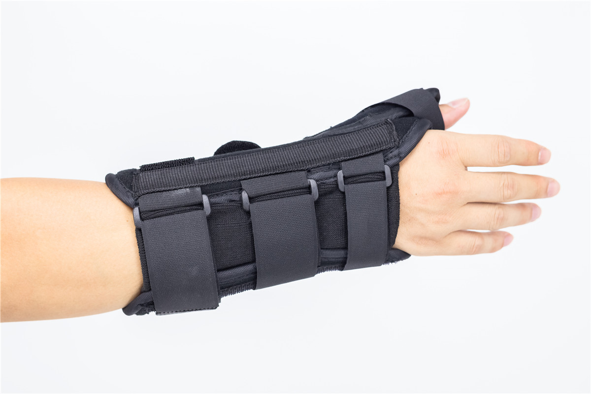 Adjustable wrist splint braces with thumb spica for sprained wrist joint immobilization factory outlets